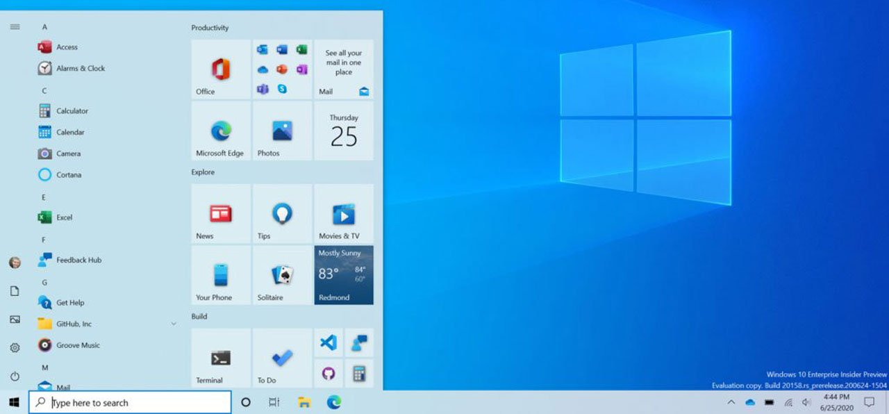 Microsoft unveils new Windows 10 Start Menu with theme-aware tiles